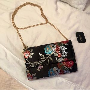 NWT Avenue Silky Embroidered Chain Bag